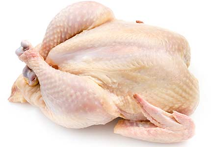 whole chicken with skin