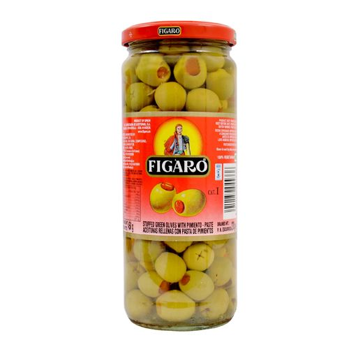 Figaro Green Olives Stuffed With Pimiento Paste