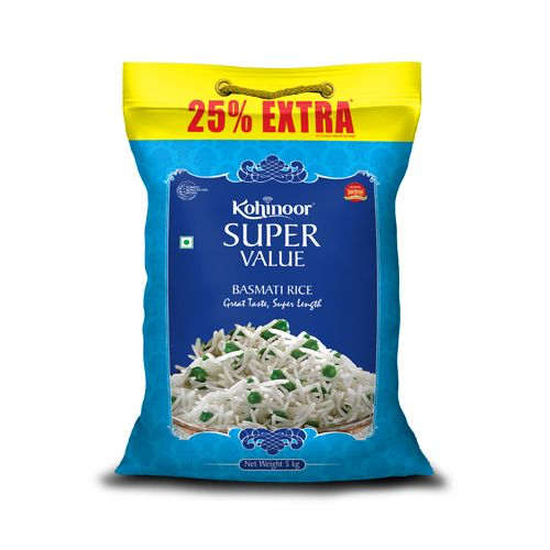 Kohinoor Basmati Rice Super Value 25 Percentage Extra
