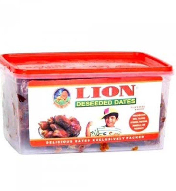 Lion Dates Deseeded 500 gm Cup