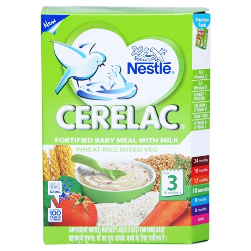 Buy nestle cerelac fortified baby meal with milk wheat for Stage cuisine vegan
