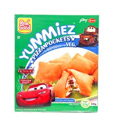 Yummiez Pizza Pockets Veg