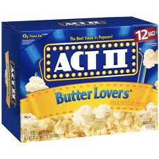 Act II Microwave Popcorn Butter Lovers