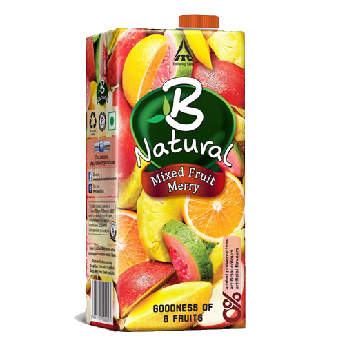 B Natural Juice  Mixed Fruit Merry