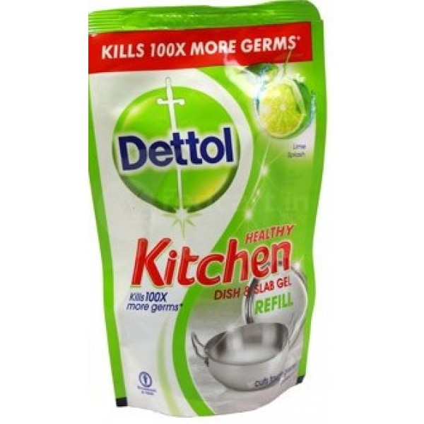 Dettol Healthy Kitchen Dish and Slab Gel Lime Splash Refill Pack