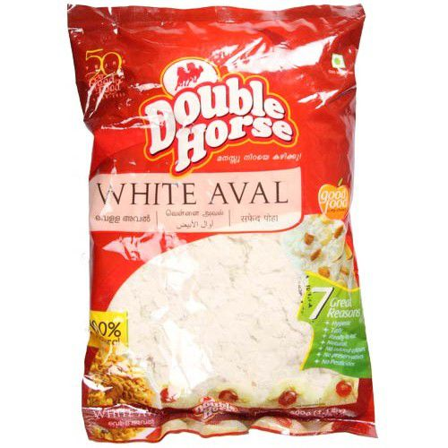 Double horse Aval White