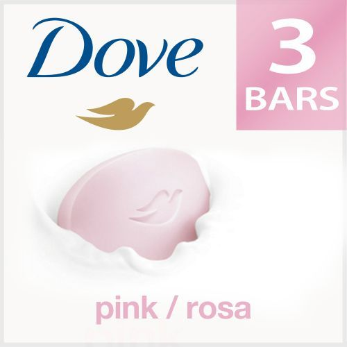 Dove Bathing Bar Pink Rosa Beauty Pack of 3