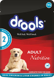 Drools Complete Adult Nutrition Food for Dogs Real Chicken and Liver Chunks In Gravy