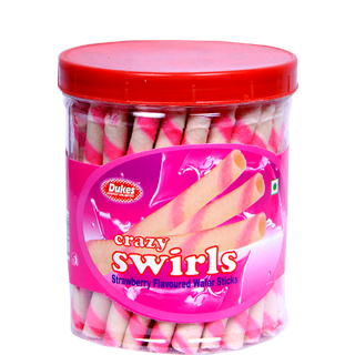 Dukes Waffy Strawberry Wafer Roll Jar