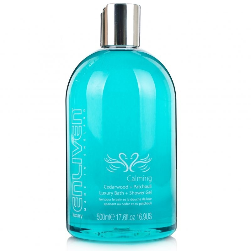 Enliven Calming Cedarwood plus Patchouli Luxury Bath Shower Gel