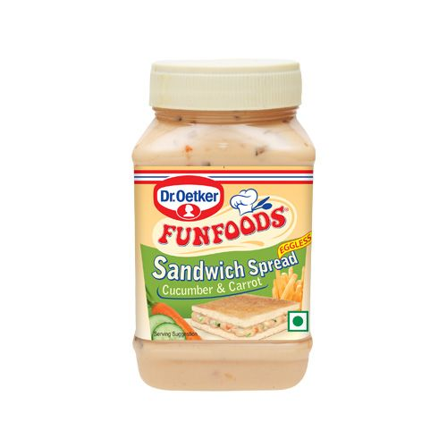 Fun Foods Sandwich Spread Cucumber and Carrot Egg less