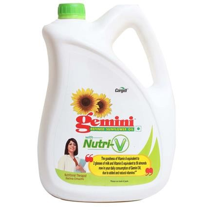 Gemini Refined Sunflower Oil - with Nutri-V