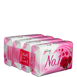 Godrej No1 Rosewater And Almond 4x65 g