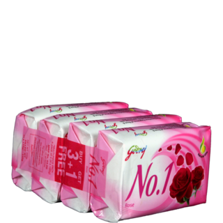 Godrej No1 Rosewater And Almond 4 x 92 gm