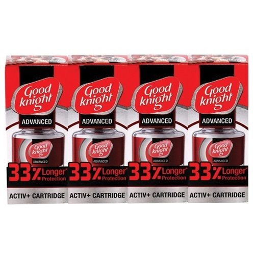 Good knight Activ Plus Liquid Refill 33 Percentage Extra Protection Pack of 4