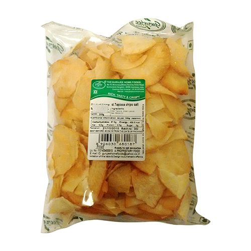 Gurujee Sliced Tapioca Chips Salted