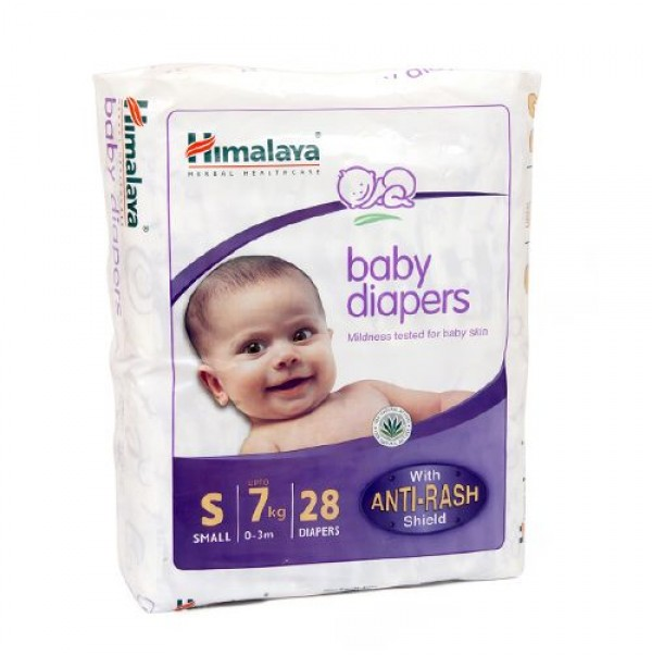 Himalaya Baby Diapers Small Anti Rash Shield  7Kg 28 pcs Pouch