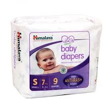 Himalaya Baby Diapers Small  Anti Rash Shield 7 Kg 9 pcs Pouch