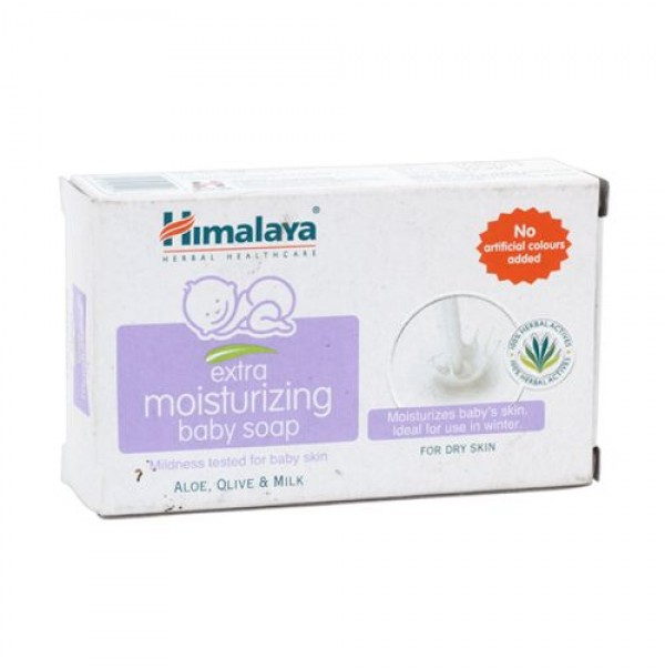 Himalaya Extra Moisturizing Baby Soap Aloe Vera Olive and Milk