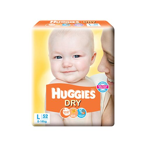 Huggies New Dry Diapers Large 52 PCS