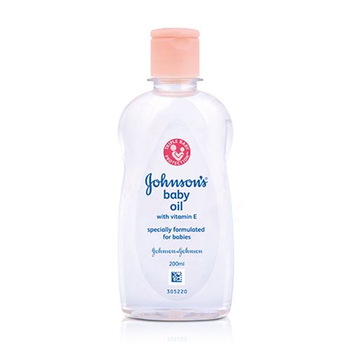 Johnson and Johnson Baby Oil with vitamin E