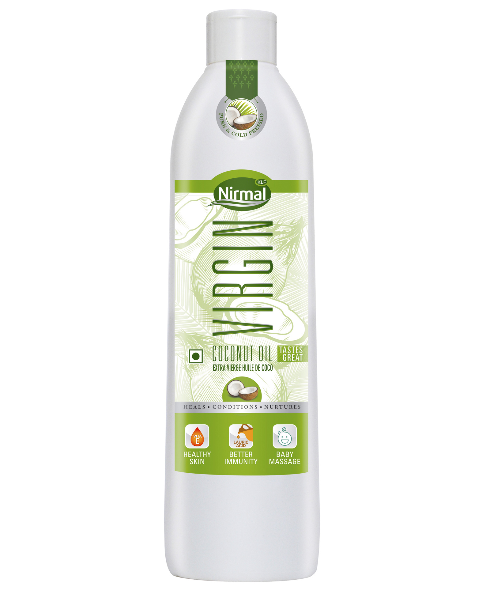 Klf Coconut Oil Nirmal Cold Press Virgin 250 ml Bottle