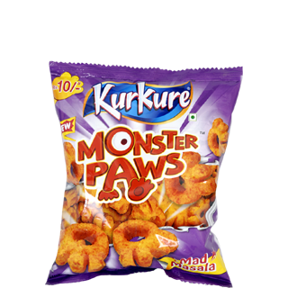 Kurkure namkeen Monster Paws Mad Masala