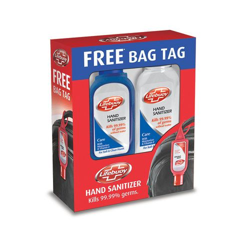 Lifebuoy Hand Sanitizer Care 55 ml Pack of 2 and Get Free Bag Tag