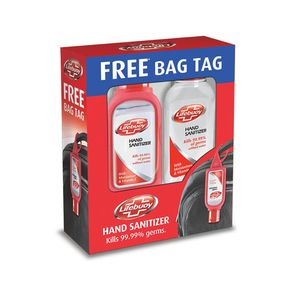 Lifebuoy Hand Sanitizer Total 10 55 ml Pack of 2 and Get Free Bag Tag