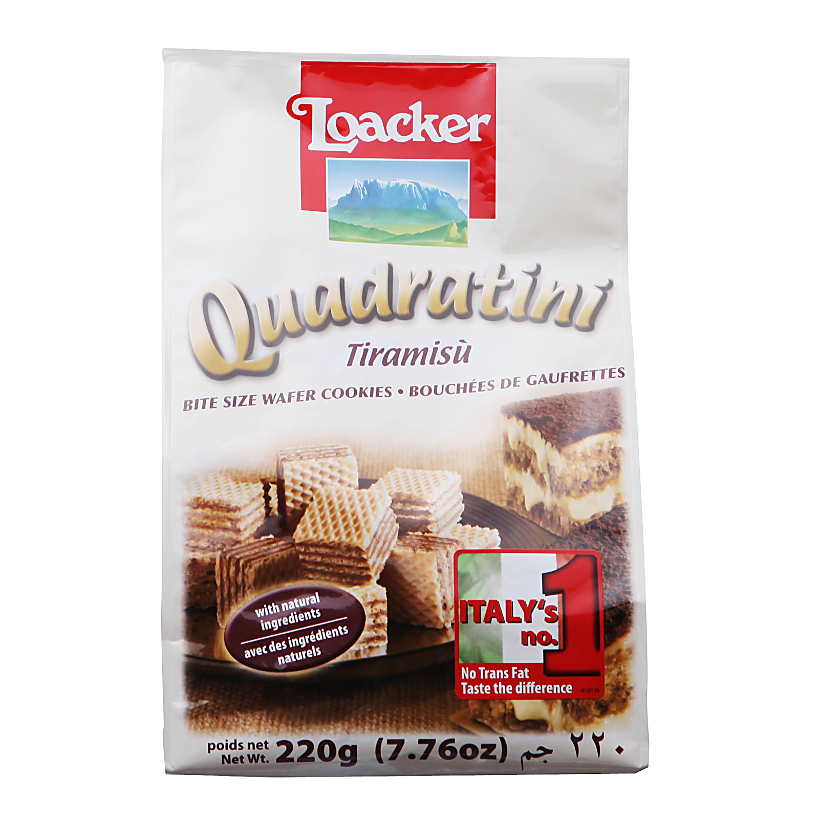 Loacker Wafer Cookies Quadratini Tiramisu