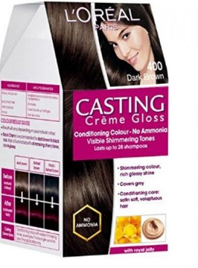 Loreal Paris Conditioning Hair Colour Casting Creme Gloss Dark Brown 400