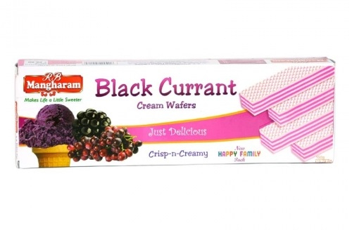 Mangharam Cream Wafers Black Currant