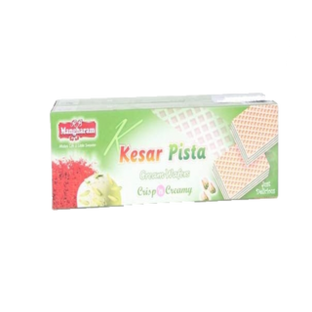 Mangharam Cream Wafers Kesar Pista