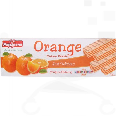 Mangharam Cream Wafers Orange