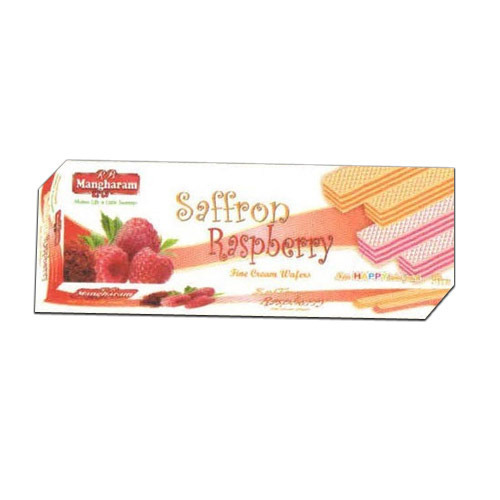 Mangharam Cream Wafers Saffron Raspberry