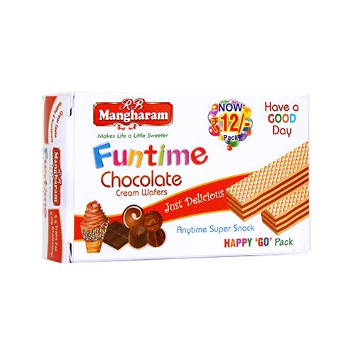Mangharam Funtime Cream Wafers Chocolate
