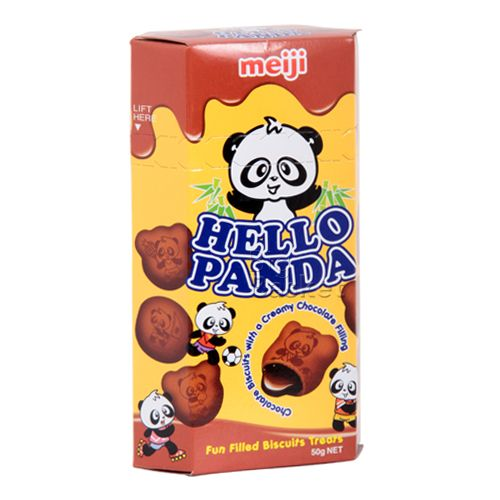 Meiji Hello Panda Biscuits Creamy Strawberry