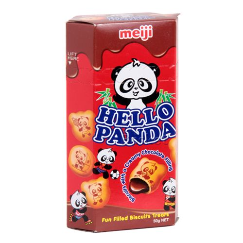 Meiji Hello Panda Biscuits Double Chocolate Filling