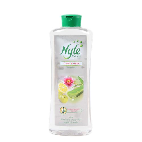 Nyle Clean and Shine Shampoo Aloe Vera Water Lily Lemon and Amla