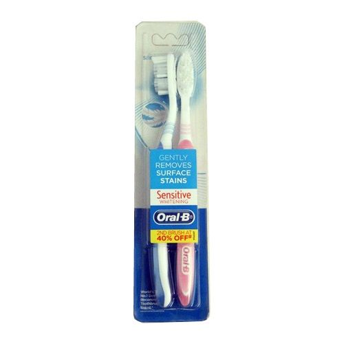 Oral B Tooth Brush Sensitive Whitening Value Pack