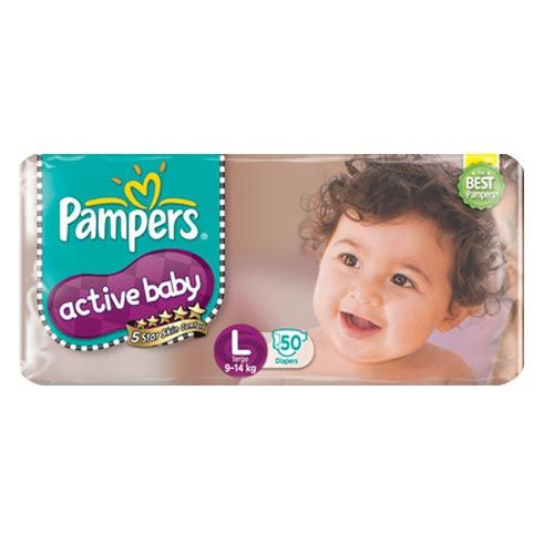 Pampers Active Baby Diapers Large 9 14 kgs