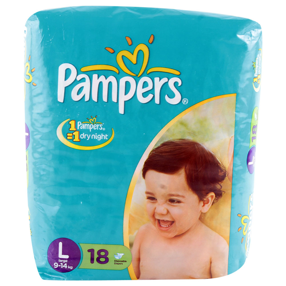 Pampers Active Baby Diapers Large 9 and 14 kgs
