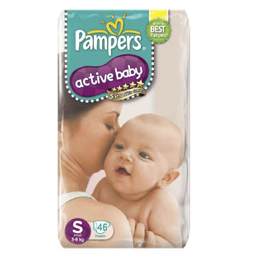 Pampers Active Baby Diapers Small 3and8 kgs