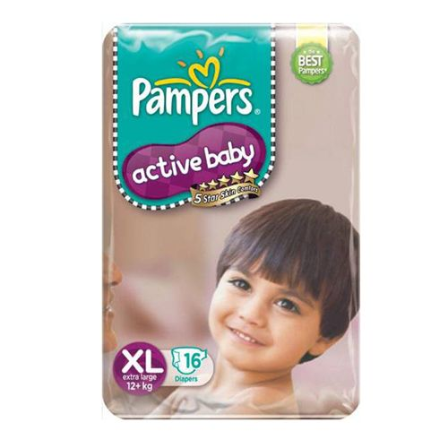 Pampers Active Baby Diapers XL 12 Plus kgs