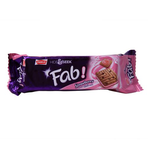 Parle Choco Chip Cookies Hide and Seek Fab Strawberry Flavour