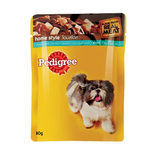 Pedigree Daily Food for Adult Dogs Chicken and Liver Chunks