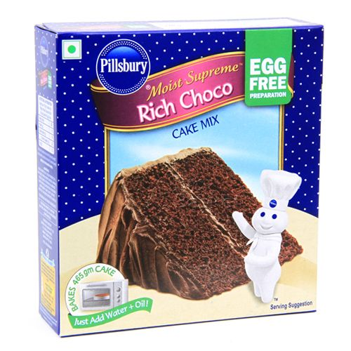 Pillsbury Cake Mix Moist Supreme Rich Choco Egg Free Preparation