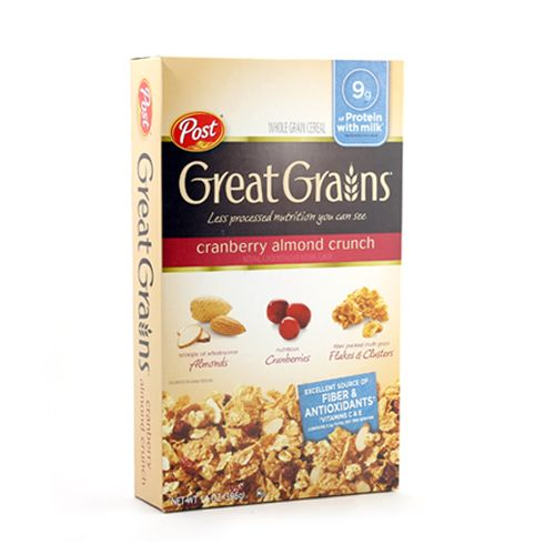 Post Selects Cereal Great Grains Cranberry Almond Crunch