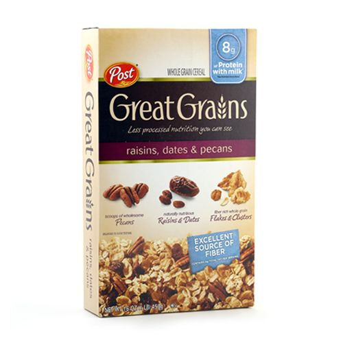 Post Selects Great Grains Whole Grain Cereal with Raisins Dates and Pecans
