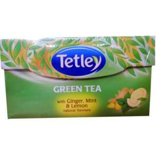 Tetley Green Tea With Ginger Mint and Lemon